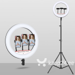 Ringikujuline Led valgusti statiivil, selfie ring light, tiktok, 70W, 35 cm
