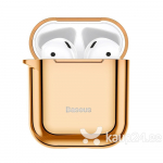 Baseus Shining hook Case Silica Gel Protector for Airpods 1/2 gold (ARAPPOD-A0V)