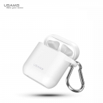 REMAX Usams BH423 Soft Silicone protective cover for Apple Airpods (MMEF2ZM/A) charging case with silicone anti-lost strap for headset