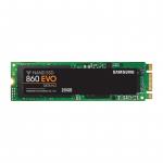SSD|SAMSUNG|860 Evo|250GB|M.2|SATA 3.0|MLC|Write speed 520 MBytes/sec|Read speed 550 MBytes/sec|MTBF 1500000 hours|MZ-N6E250BW