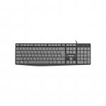 Klaviatuur Natec Keyboard FLAMEBACK SLIM Black/Grey, USB, US Layout, OEM