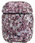 TakeMe Ultra-Thin Protective Case With Sparkle Diamonds For Apple AirPods Violet